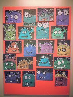 """Idée Pinterest : """"Tableaux de monstres"""""""