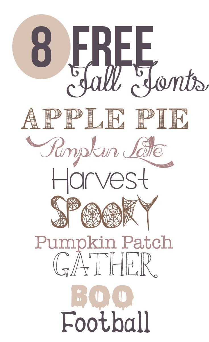 8 Free Fonts for Fall @ Pink on the Cheek  ~~ {8 free fonts w/ easy download links}