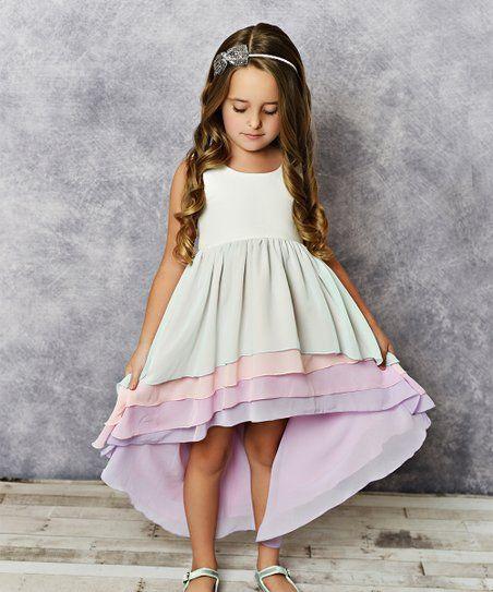 d2e7f54a5f4 Oopsie Daisy | Pink Sherbet Hi-Low Dress - Girls | SuperCuteness ...