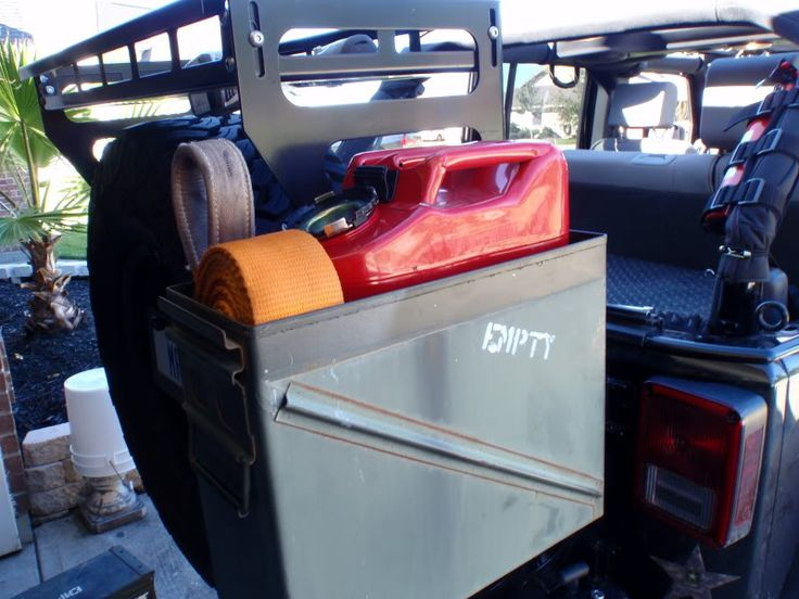 Jerry Can Holder For Truck Bed >> Ammo Can Secure Storage - JKowners.com : Jeep Wrangler JK Forum | Mods for landy | Pinterest ...
