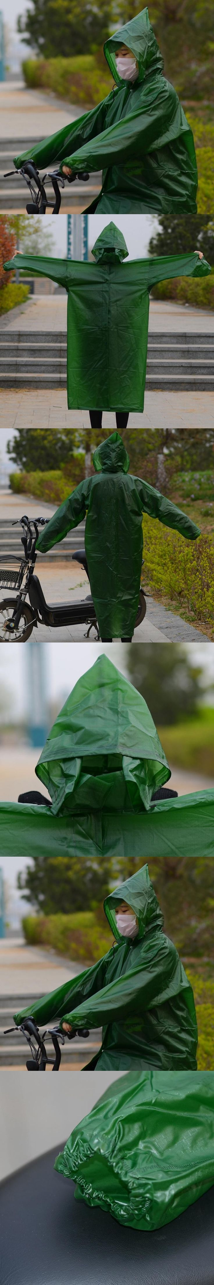 Long Raincoat Women Men Bicycle Scooter Rainwear Waterproof Hiking Tour Hooded Rain Jacket Women Universal Poncho