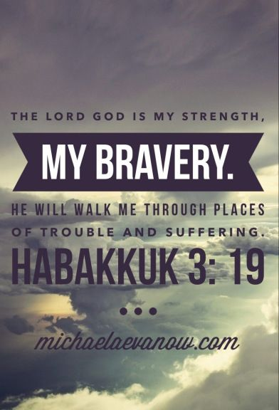 Habakkuk 3:19. My bravery.