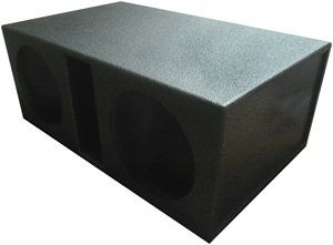 "Atrend SPL-15DV Dual 15"" Vented Super Bass SPL Subwoofer Box with Bedliner Finish"