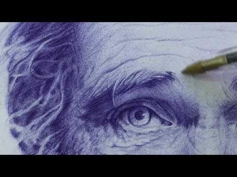 Retrato dibujo bolígrafo # 2 - HD - YouTube