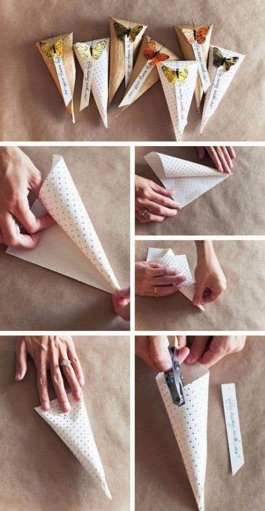 envoltura en forma de cono