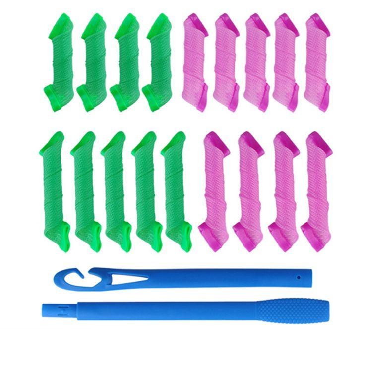 18 Pz/set di Plastica Automatica Bigodini Rulli Filo Forma Grandi Onde Lumaca Riccioli Riccia Capelli Artefatto Magico Hair Styling Tools