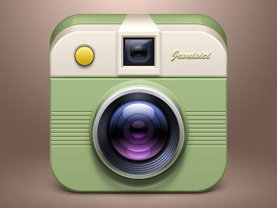 Nice iOS camera icon found on Dribbble.
