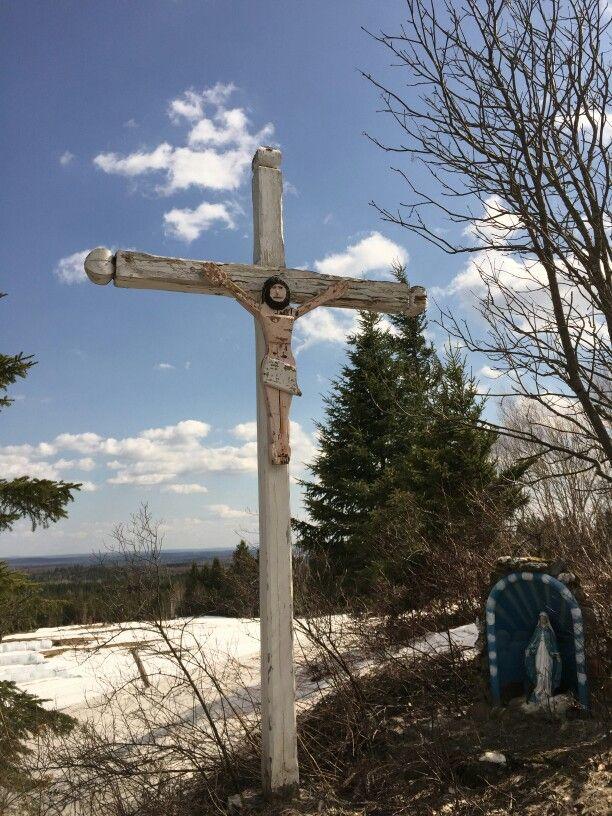 Croix de chemin (calvaire) - Rang St-Charles, Ste-Sabine, MRC des Etchemins, QC, Canada