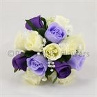 Purple, Lilac & Ivory Rose Bridesmaids Posy Threw this instead of my real bouquet