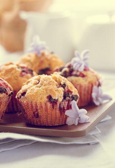 Muffiny s čiernymi ríbezľami