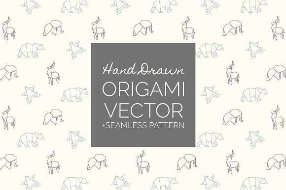 Hand Drawn Origami Vector by Storyteller Imagery on @creativemarket