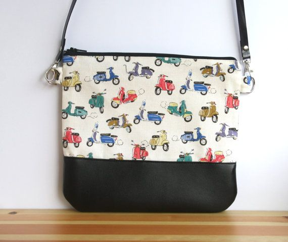 Motorcycle bag scooter crossbody bag colorful clutch by Divanitas