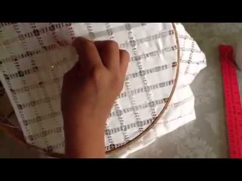 Deshilado : Cuadrados con x en el centro