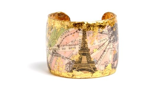 Really like thisCuffs Bracelets, Vintage Paris, Paris Cuffs, 22 Karate Gold, Gold Leaf, Eiffel Towers, Leaf Cuffs, Jewelry, Towers Th