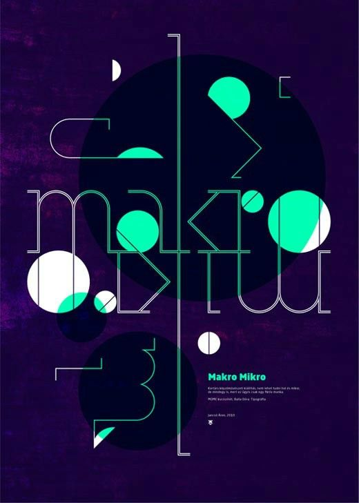 This is a poster which uses balance to express. I like the color. The background uses dark purple, and there are some light green and pink on it. These light colors like firefly. The typeface uses thin lines. They looks light and comfortable.
