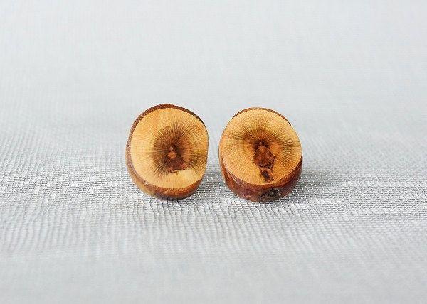 Wooden ear studs - Buddha,wooden earrings,earring studs,wooden sticks earrings by Mazunii on Etsy