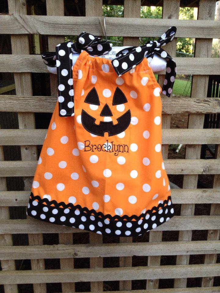 infant/toddler girls halloween pillowcase dress by iheartthenest on Etsy