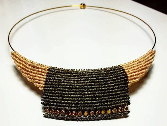 Check out this item in my Etsy shop https://www.etsy.com/listing/471958892/macrame-necklace