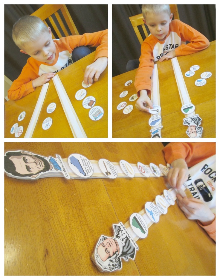 Relentlessly Fun, Deceptively Educational: Presidential Paint Stick Timelines