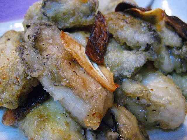 カリカリ牡蠣のガーリックソテー!!の画像