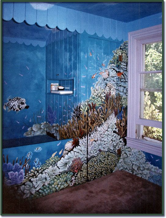17 best images about mural shark aquarium on pinterest for Aquarium mural gifi