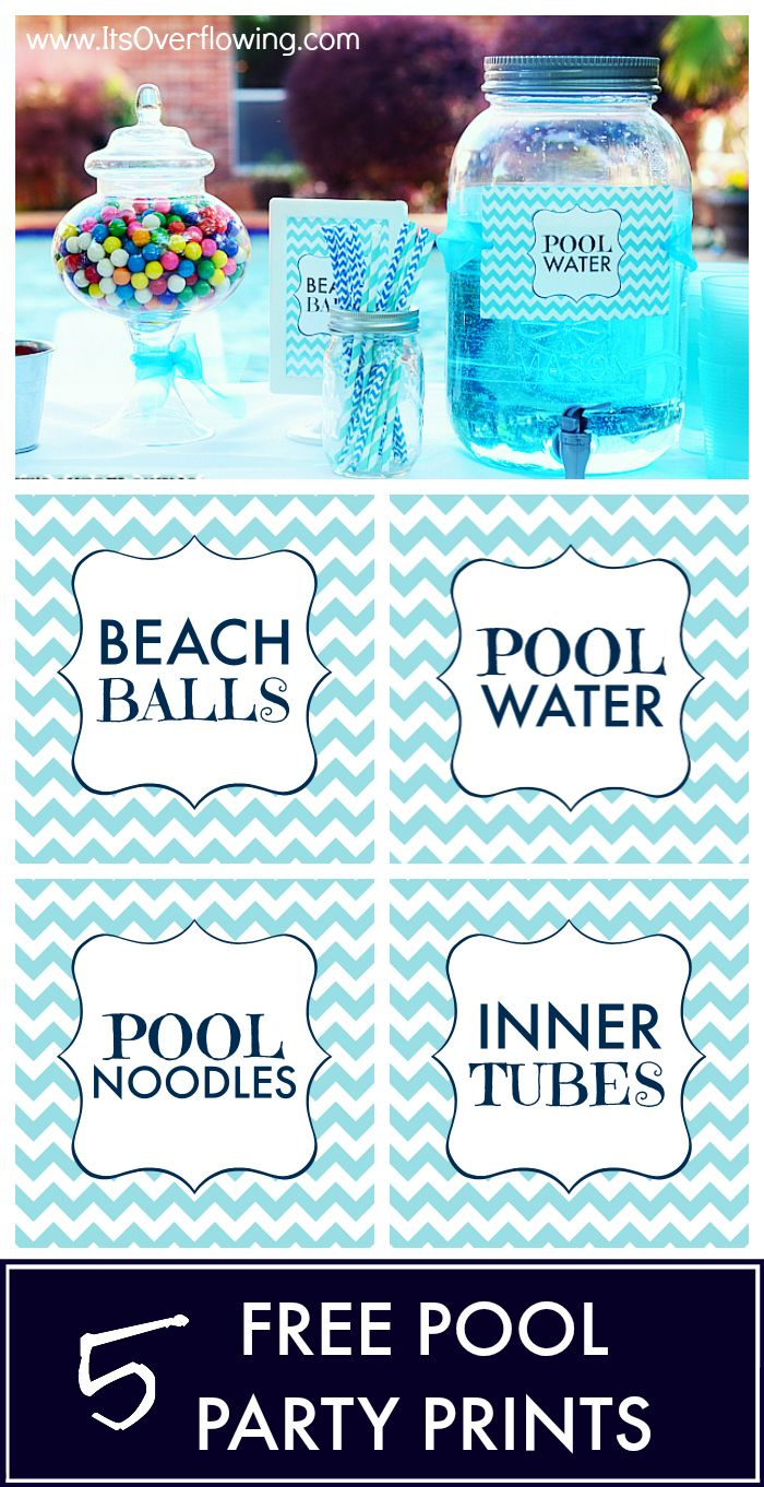 Pool Party Printables – Cute! But necessary?