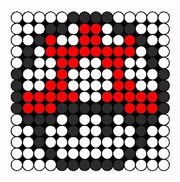 Mini Mario Mushroom Perler Bead Pattern | Bead Sprites | Characters Fuse Bead Patterns