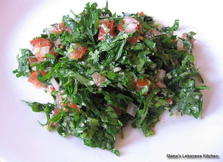 Tabbouleh is a healthy, rich and super-green salad with pure Lebanese origins…