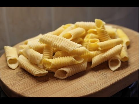 Garganelli with egg homemade, perfect Recipe - YouTube