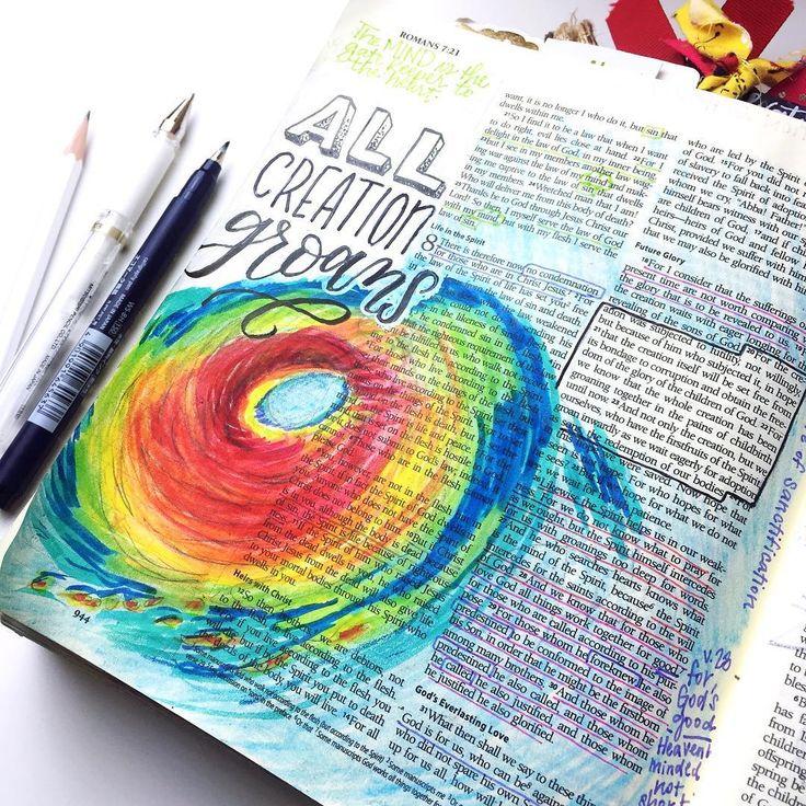 Bible Journaling by @krystalwhitten