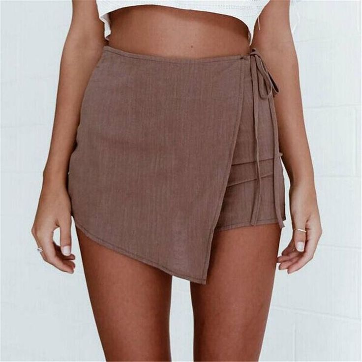 A Line Skirt - Fashion Ladys Womens Shorts Summer Sexy Hot Pants Casual High Waist Shorts