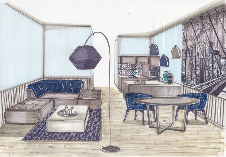 Single man apartment with #Sicisskyline mosaik