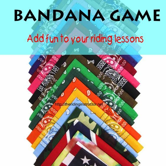 A great game for riding lessons