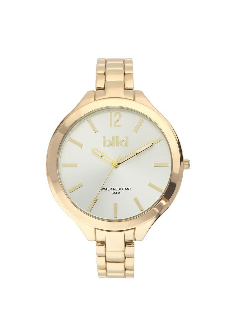Gouden horloge, gold watch, ikki style, ikki fashion