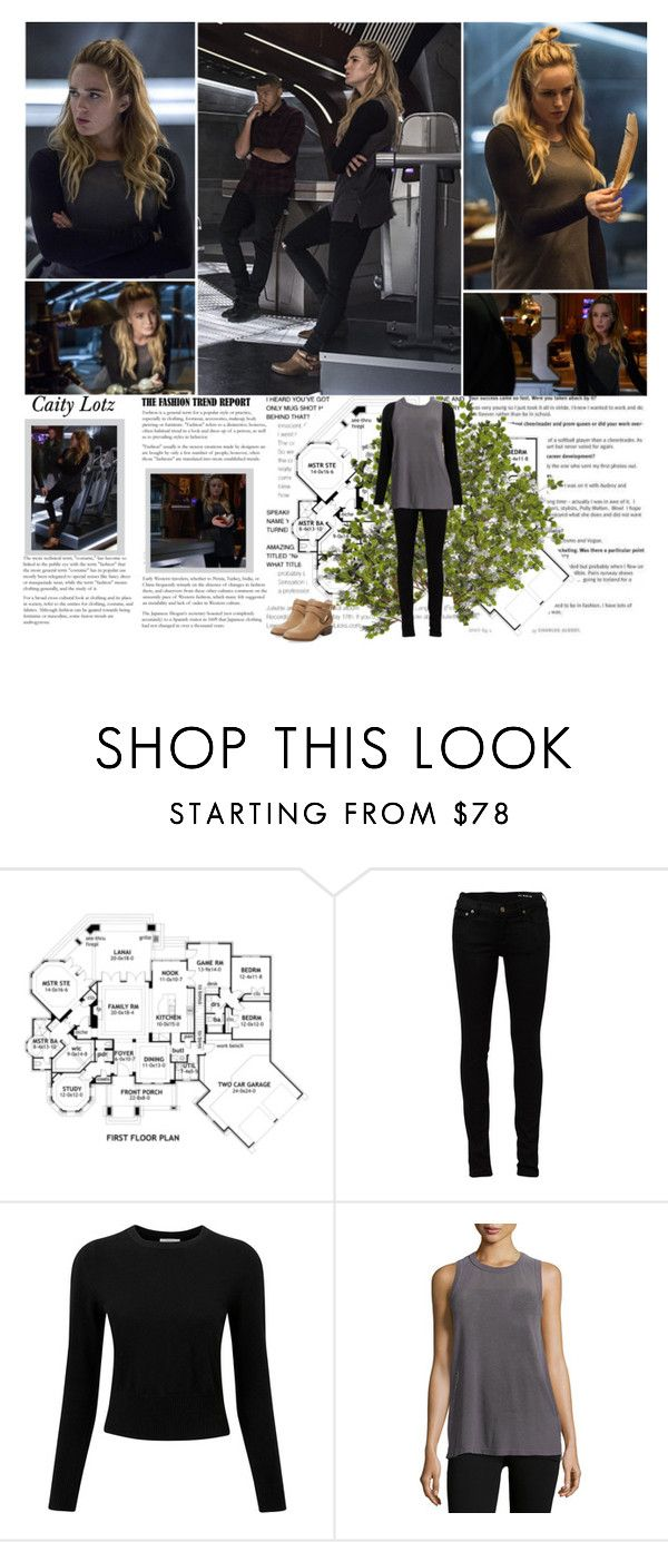 """""""Caity Lotz as Sara Lance / White Canary. {DC's Legends Of Tomorrow - 1.03 Blood Ties}"""" by albacampbell ❤ liked on Polyvore featuring Yves Saint Laurent, Pure Collection, Current/Elliott and Seychelles"""