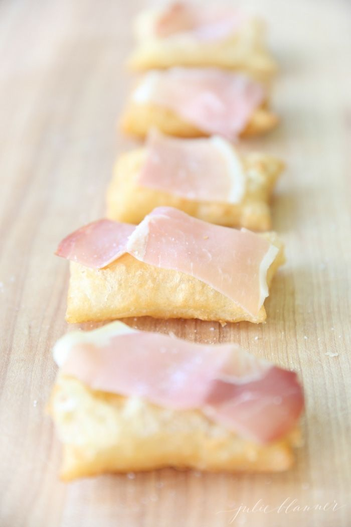Gnocco Fritto recipe - pillows of dough topped with olive oil, prosciutto and sea salt