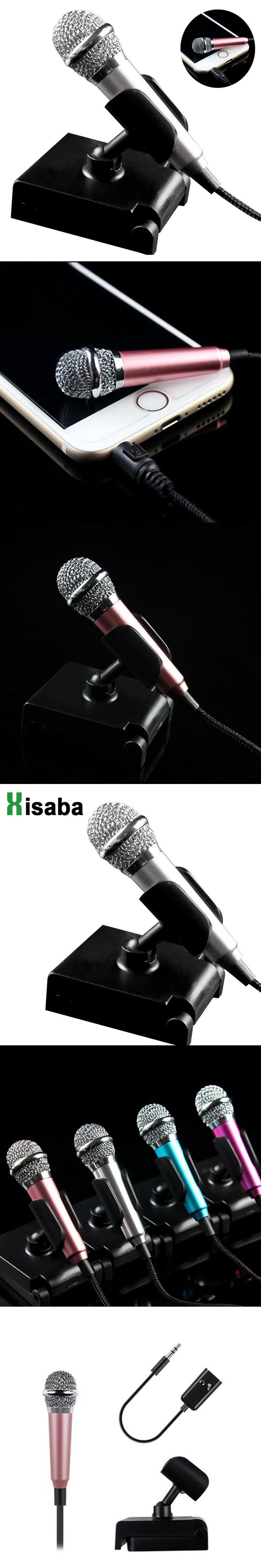 Portable Mini Microphone Stereo Condenser Mic 3 5mm For iPhone 6 6s IOS Android phone PC