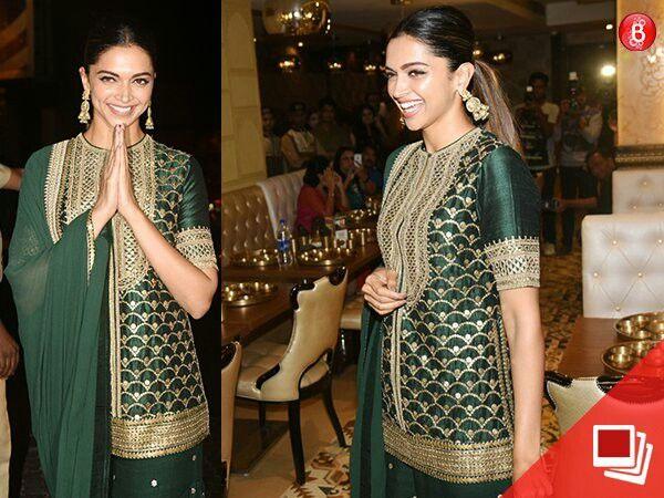 Bollywood Actress Deepika Padukone In Traditional Dress Indian Fashion Saree Dress Fashion