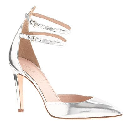 silvery, strappy stiletto love perfect for a #wedding
