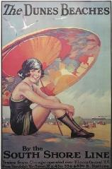 Vintage beach posters! Love Lake Michigan!
