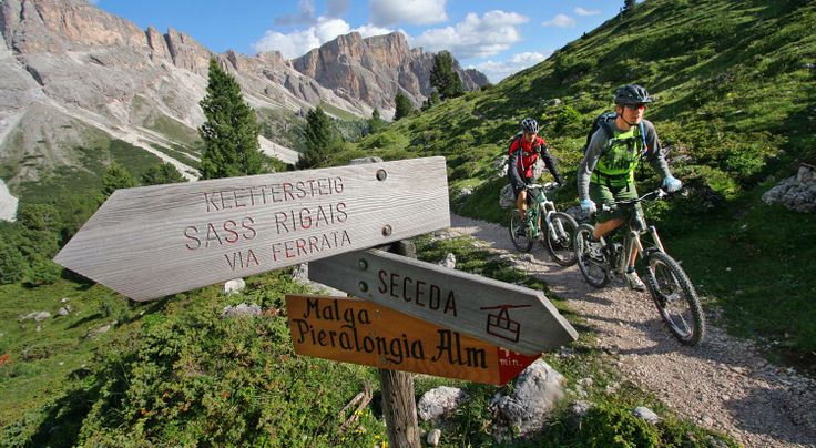 Descents with a difference - Cycling and mountain biking in the Dolomites  www.mtb-dolomites.com