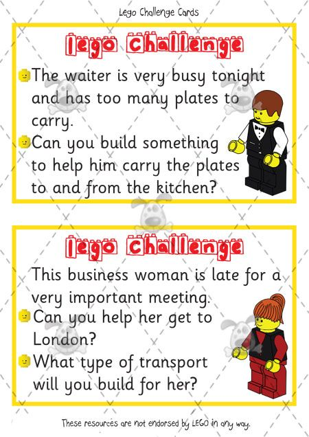 Teacher's Pet - Lego Challenge Cards - Premium Printable Classroom Activities and Games - EYFS, KS1, KS2, building, blocks, design, ideas, legos, challenges, activities