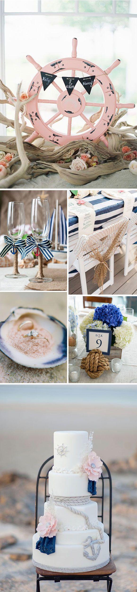 Decoración para una boda en la playa