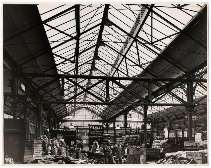 The roof of Borough Market in the early 1900s.