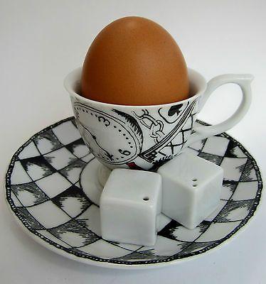 New Alice in Wonderland novelty egg cup, saucer, salt & pepper sugar cube cruet | eBay