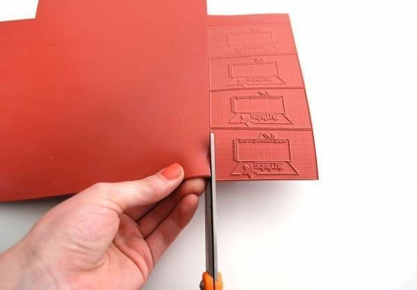 Laser cutting rubber for stamps