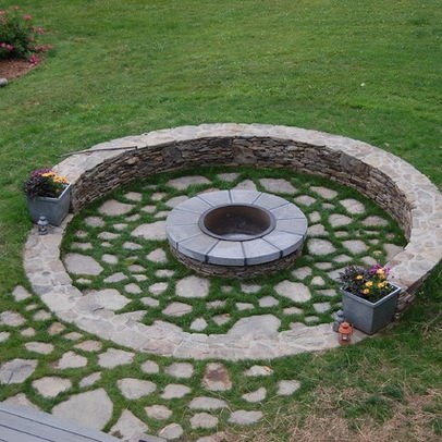 New York Home backyard fire pit Design Ideas, Pictures, Remodel and Decor