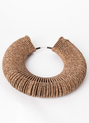 Cork Flow 2.0 Cork Necklace . Portuguese Independent Brand of Contemporary Jewellery