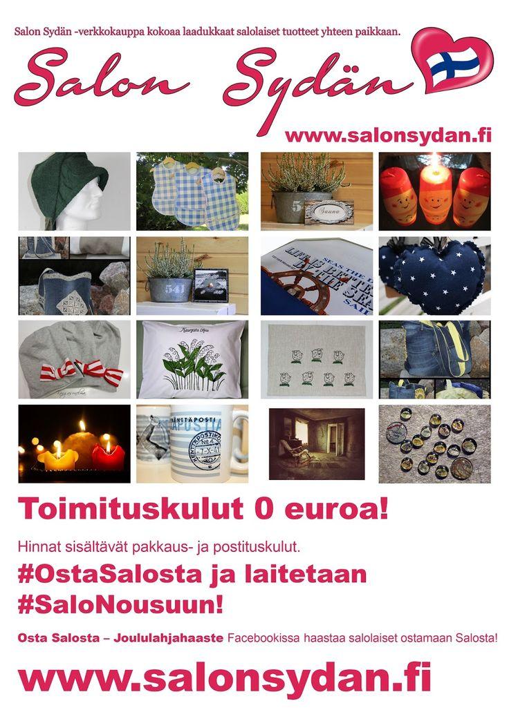 Salon Sydän - verkkokauppa kokoaa laadukkaat salolaiset tuotteet yhteen paikkaan! http://www.salonsydan.fi/