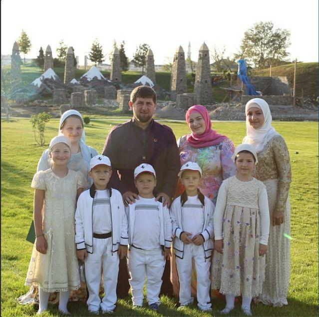 Ramzan Kadyrov, the head of the republic of Chechnya and ...